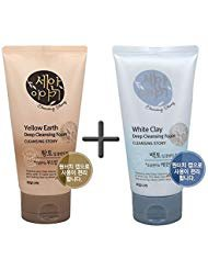Cleansing Story Natural Facial Deep Foam Cleansing 1+1 (Yellow Earth + White Clay) ()