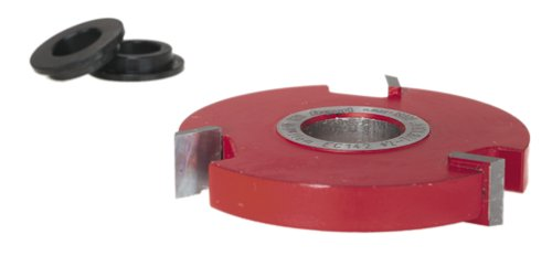 3 Wing Carbide Shaper Cutter - Freud EC-142 3-Wing 1/2-Inch Straight Edge Shaper Cutter, 3/4 Bore