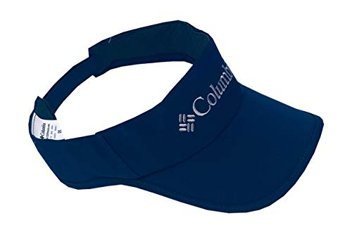 Columbia Unisex Omni-Freeze Zero Midway Park Logo Adjustable Visor Hat (Navy, One Size) (Columbia Visor)