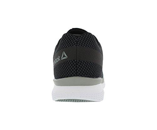 Mens Reebok Stampare Primo Corridore Sneaker Nero / Ghiaia / Tin Grigio / Bianco
