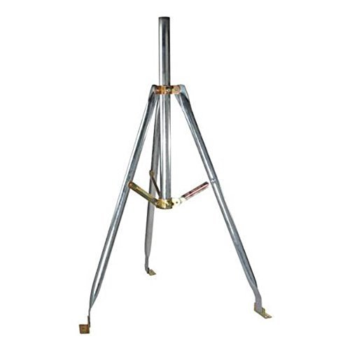 3' FT Tripod Mount Satellite Antenna with 2'' Inch OD Mast 28 Inch Mast 1.66 and 2 Inch O.D. Dish 3' Tri-Pod 2'' Mast TV Off-Air Outdoor Signal Support BracketSpecifications by NAC Wire and Cables