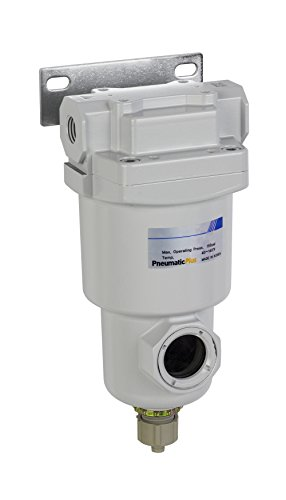 PneumaticPlus SAMO150-N02B-MEF Compressed Air Odor Removal Filter 1/4'' NPT - Auto Drain, Metal Bowl by PneumaticPlus