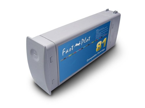 FastPlot Re manufactured Ink Cartridge Replacemente for HP 81 Light Cyan Dye 680ml