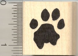 Lion Paw Print Rubber Stamp -