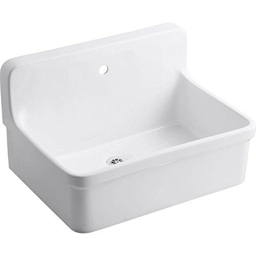 KOHLER K-12781-0 Gilford Scrub-Up Plaster Sink, White