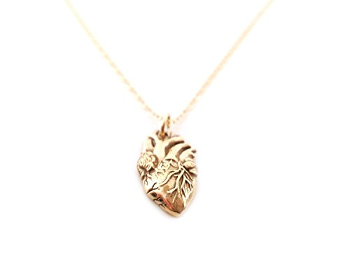Anatomical Heart Of Gold Necklace