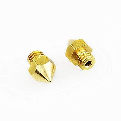 MK8 Brass Nozzle 3D Printers Parts Extruder Threaded M6 Filament 1.75mm Head Brass Nozzles Part Mini Print Head