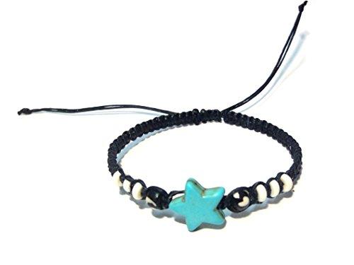 Handmade Bracelet - Adjustable Cord Bracelet (Blue) (Ecolution Hemp Fabric)