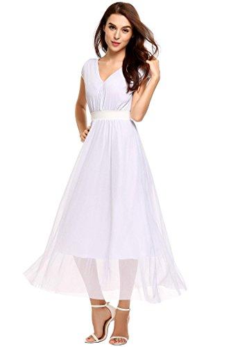 ELESOL Women's V-Neck Sparkle Mesh Plus Size Prom