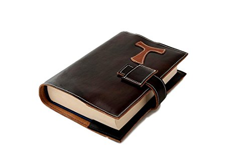 Michelangelo Genuine Leather Calf-Skin Italy - Bible Cover Leather 15.4x5 H22.5 cm (Black) ()
