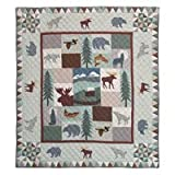 Patch Magic Queen Mountain Whispers Quilt, 85-Inch by 95-Inch