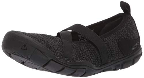 Keen Women's Hush Knit MJ CNX Mary Jane Flat, Black/Raven, 10 M US
