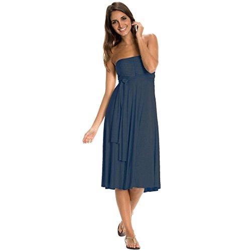 Vestito Convertibile Blu Denim Piccolo Elan RfxBq4w