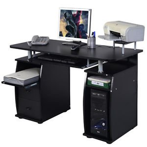 Computer PC Desk Work Station Office Home Raised Monitor&Printer Shelf Furniture by Genric