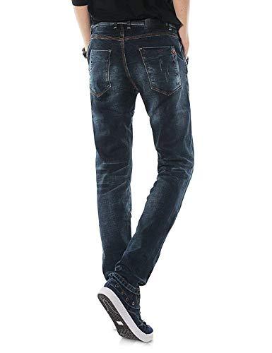 Denim Stile Pantaloni Ragazzi Da Vintage Lunghi Dh8117xblau Dritto T Jeans Casual Classiche Uomo Stretch qUBwv