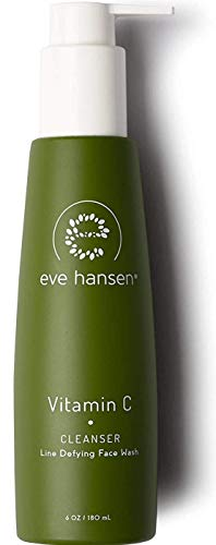 (Eve Hansen Dermatologist Tested Vitamin C Face Wash - Premium, Fragrance Free Skin Care, Hypoallergenic Gel Face Cleanser | Blackhead Remover and Pore Minimizer | 6 oz)