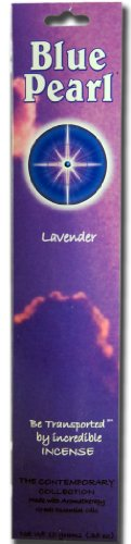 Incense Blue - Blue Pearl Contemporary Collection Incense, Lavender, 10 Gram