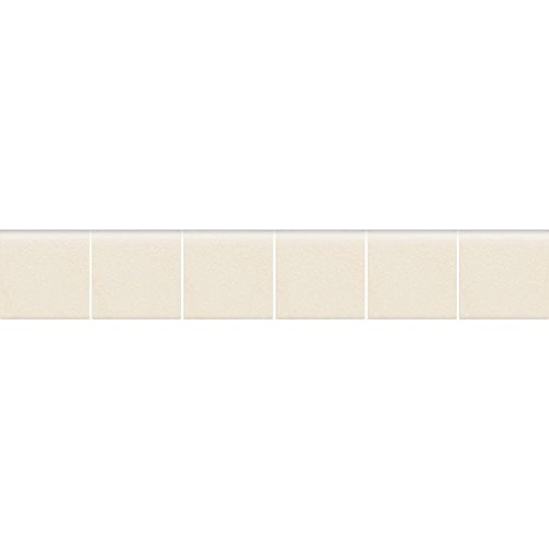 Biscuit Mosaic - Keystones Unglazed Biscuit 2 in. x 12 in. x 6 mm Porcelain Mosaic Bullnose Floor and Wall Tile