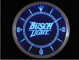 Amazoncom Busch Light Beer Neon Sign LED Wall Clock by