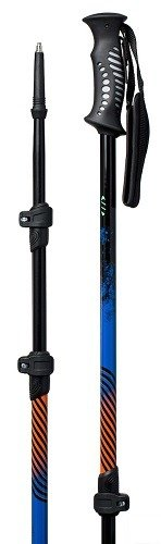 New Borealis Telescopic Cross Country Snowshoe Hiking 3 Pc. Fastlock Ski Poles by Whitewoods