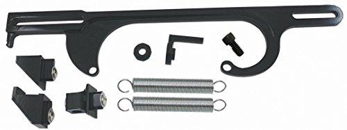 Black Billet Aluminum Throttle Cable Bracket SBC BBC V8 Holley 4150 4160 Series (Billet Throttle Bracket)