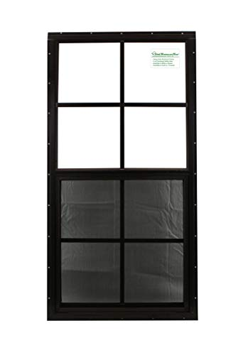 Shed Windows 18'' X 36'' Brown Flush Mount, Safety/Tempered Glass Playhouse Windows, Chicken Coop Windows by Shed Windows and More (Image #2)