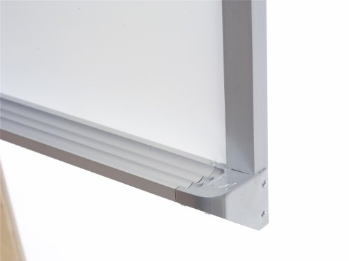 Marsh Pro-Lite 48''x144'' White Porcelain Markerboard, Contractor with Hanger Bar Aluminum Trim by Marsh (Image #1)