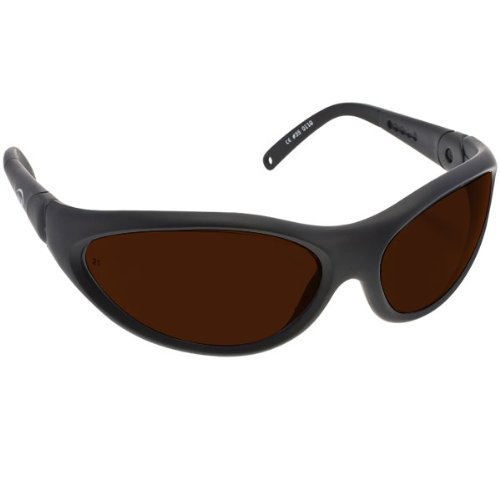 Noir Spectra Shields Wrap Around 2 Percent Dark Amber by - Noir Sunglasses