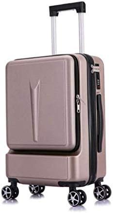 BXDYA ビジネススーツケース、男性と女性のコンピュータ搭乗フロントオープニングトロリーケース、20インチのパスワードのスーツケース、拡張可能 (Color : C)