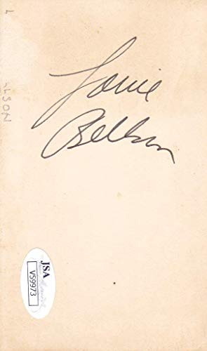 LOUIE BELLSON d.2009 Signed 3x5 Index Card Jazz Drummer V59973 JSA Certified NBA Cut Signatures