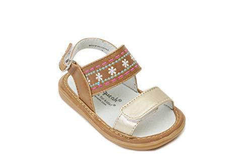 Wee Squeak Aria Brown Sandal Toddler Squeaky Shoe Size 5