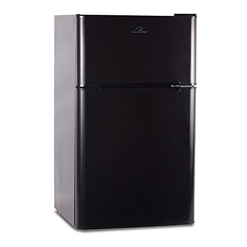 Commercial Cool CCRD32B Compact Double Door Refrigerator with True Freezer, 3.2 Cu. Ft. Mini Fridge, Black