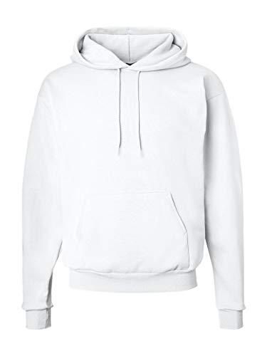 Sudadera con capucha EcoSmart Fleece para hombre de Hanes, blanco, grande