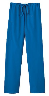 Fundamentals 14020 Adult's Drawstring Pant Royal Small Short (Regular Adult Short)