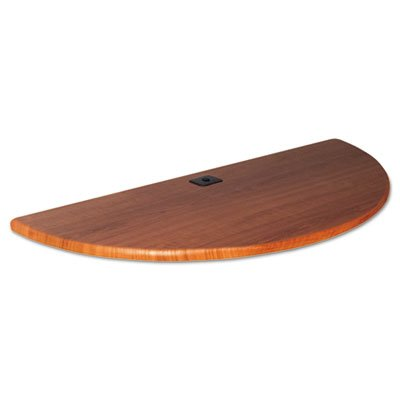 Height-Adjustable Flipper Table Top, Half-Round, 48w x 24d, Cherry, Sold as 1 Each by Generic