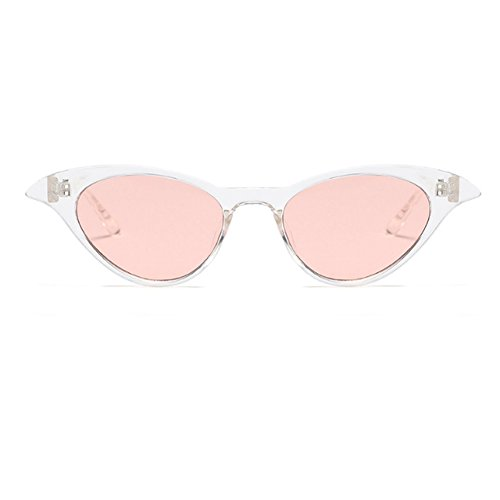 Vintage Tóner Blanco Sunglasses Gafas Eye Sexy Inlefen Small Ladies Cat sol de Women Eyewear OzIwq7xwB