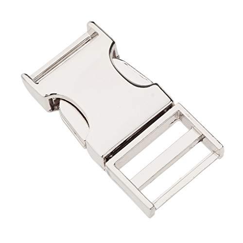 SM SunniMix DIY Metal Side Clip Buckle Fastener Webbing Quick Release Clock Closure Parts Supplies - Silver, Inner Diameter 19mm