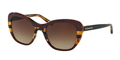 Coach Womens Sunglasses Red/Brown Acetate - Non-Polarized - - Frames Spectacle Coach