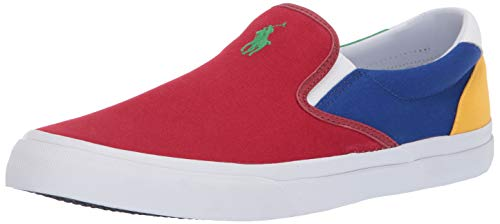 (Polo Ralph Lauren Men's Thompson Sneaker, Multi, 12 D US)