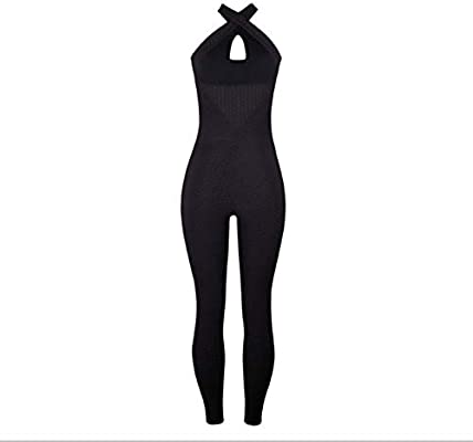 VCB Moda de Secado rápido para Mujer Color sólido Monos Yoga ...
