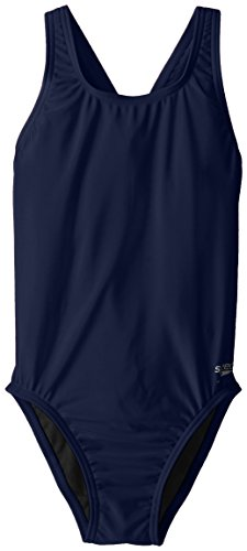 Speedo Big Girls' Pro LT Youth Superpro Swimsuit, Nautical Navy, - Blue Speedo Navy Swimsuit