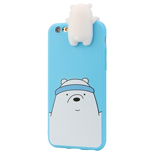 Aobiny Mobile Phone Case New Squeeze 3D Cartoon Animals Cute Soft Silicone Case Healing Fun Stress Relief Decompression Skin Cover For IPhone 6/ IPhone 6s 4.7 inch (Prone Mobile)