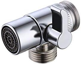 Brass Bidet Shower Head Diverter Valve Faucet Tap T-Adapter UK Splitter L8Q6