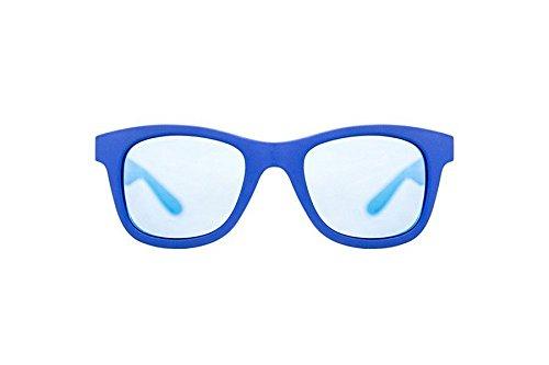 Cristian Leroy Herren Sonnenbrille Blu Matto Lente Blu Specchiata IEMiJSXV