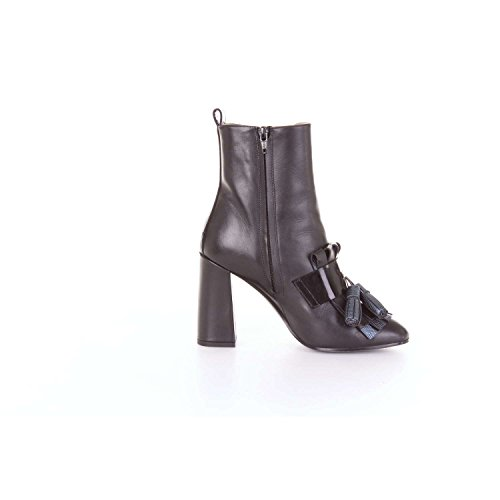 and Women Alessandro 3703B Dell'Acqua Black Boot Blue Ankle qHFpR