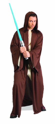Rubie's Star Wars Adult Hooded Jedi Robe, Brown, X-Large Costume Adult Jedi Knight Costume
