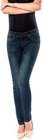 レディース デニム ジーンズ コットン 大きいサイズ 修身 スリム タイトパンツ 美脚 パンツ 205-93