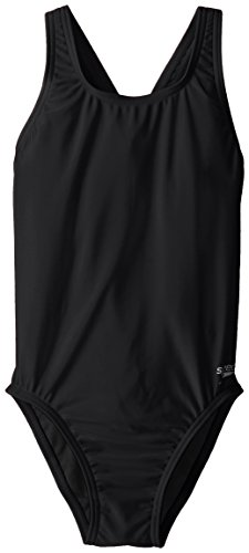 Speedo Big Girls' Pro LT Youth Superpro Swimsuit, Black, 26