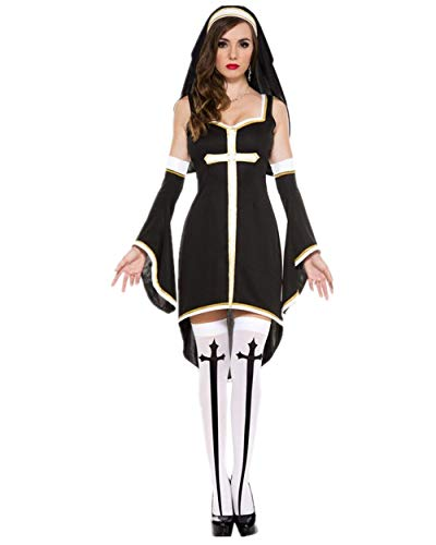 Sansberia Women's Nun Halloween Costume Sister Dress