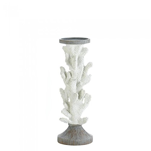 Christmas Tablescape Decor - Gallery of Light large coral pillar candle holder.